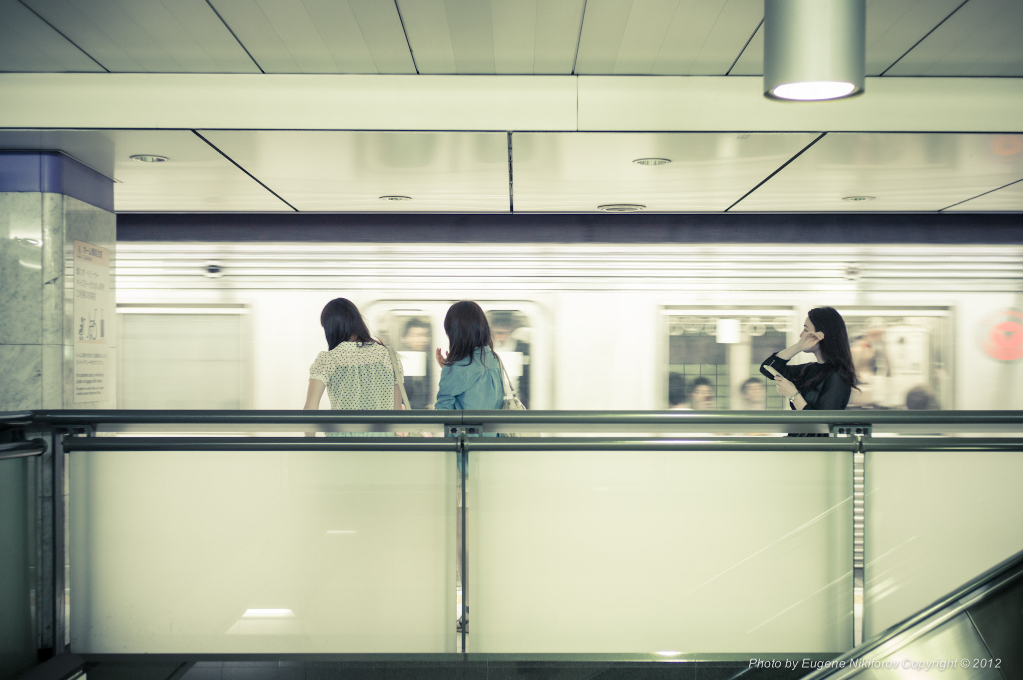 Photograph Train Approaching, Tokyo Metro by Eugene Nikiforov on 500px