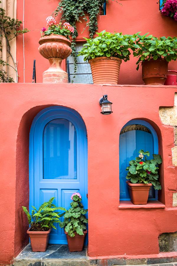 Colourful Greek Home by Adam Sabic on 500px.com