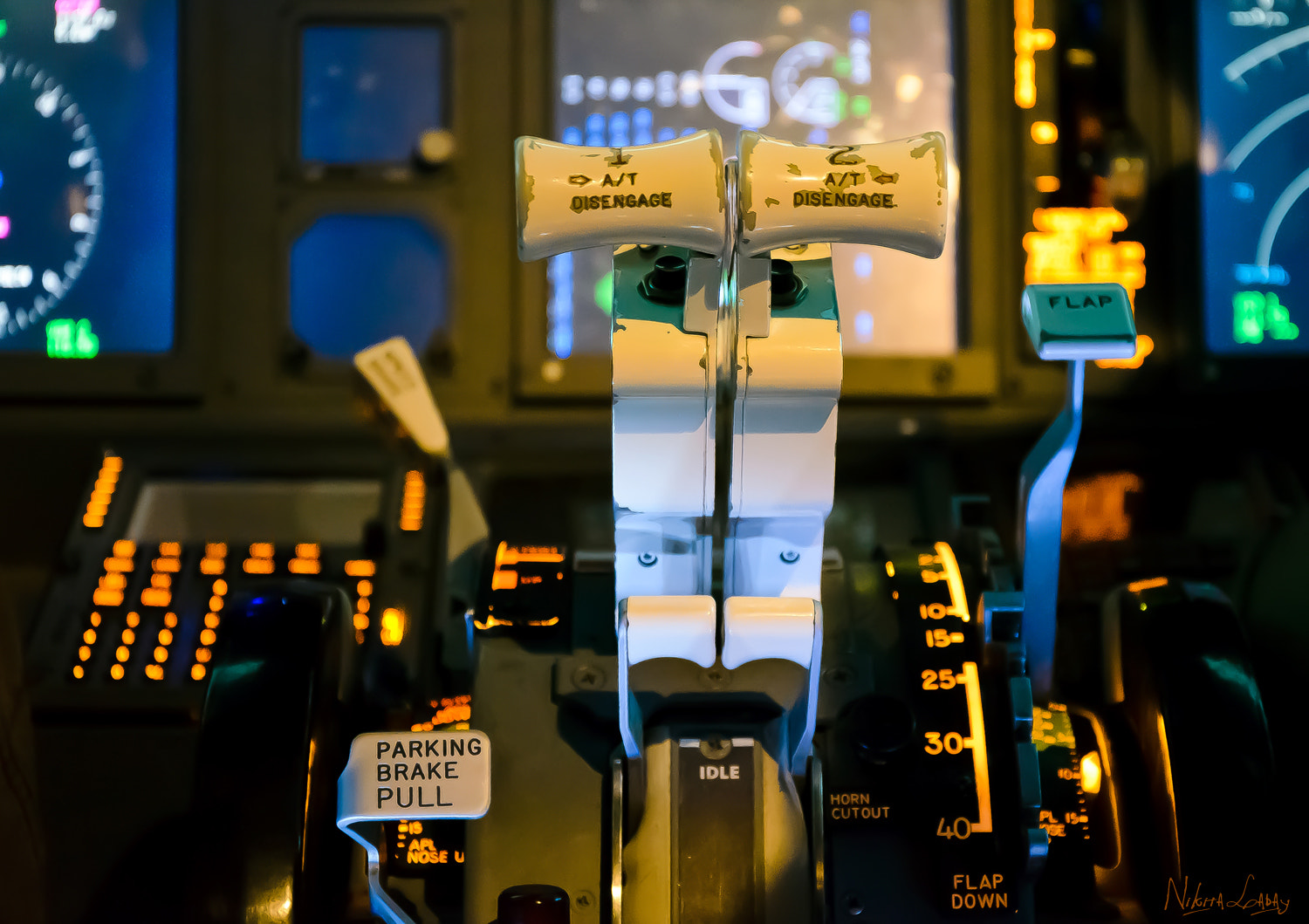 Photograph In the cockpit of the Boeing 737 by Nikita Labai on 500px
