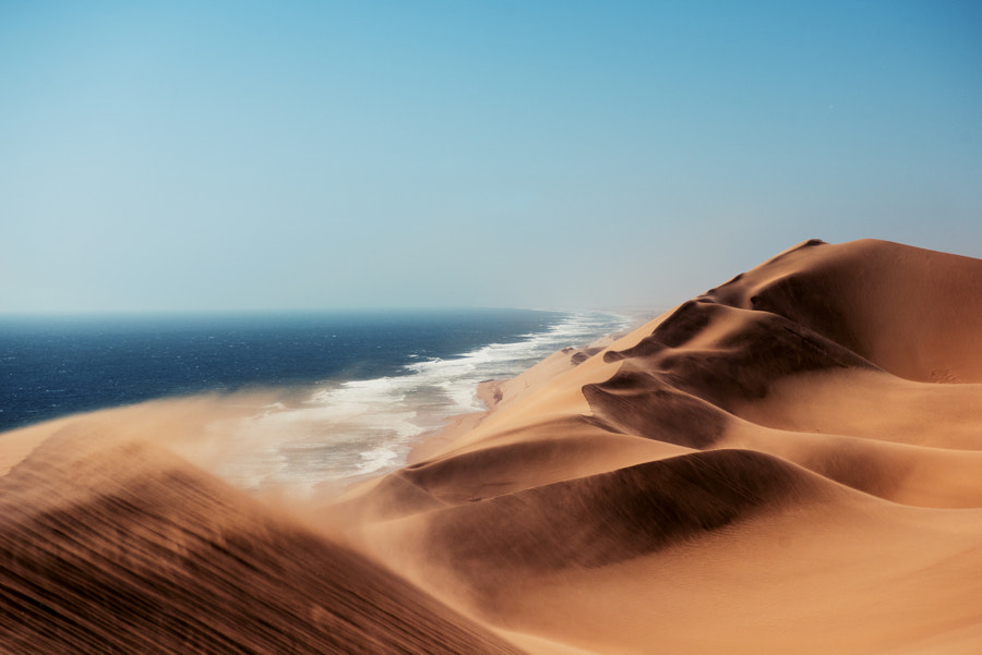Namib vs Ocean by Pietro Olivetta on 500px.com