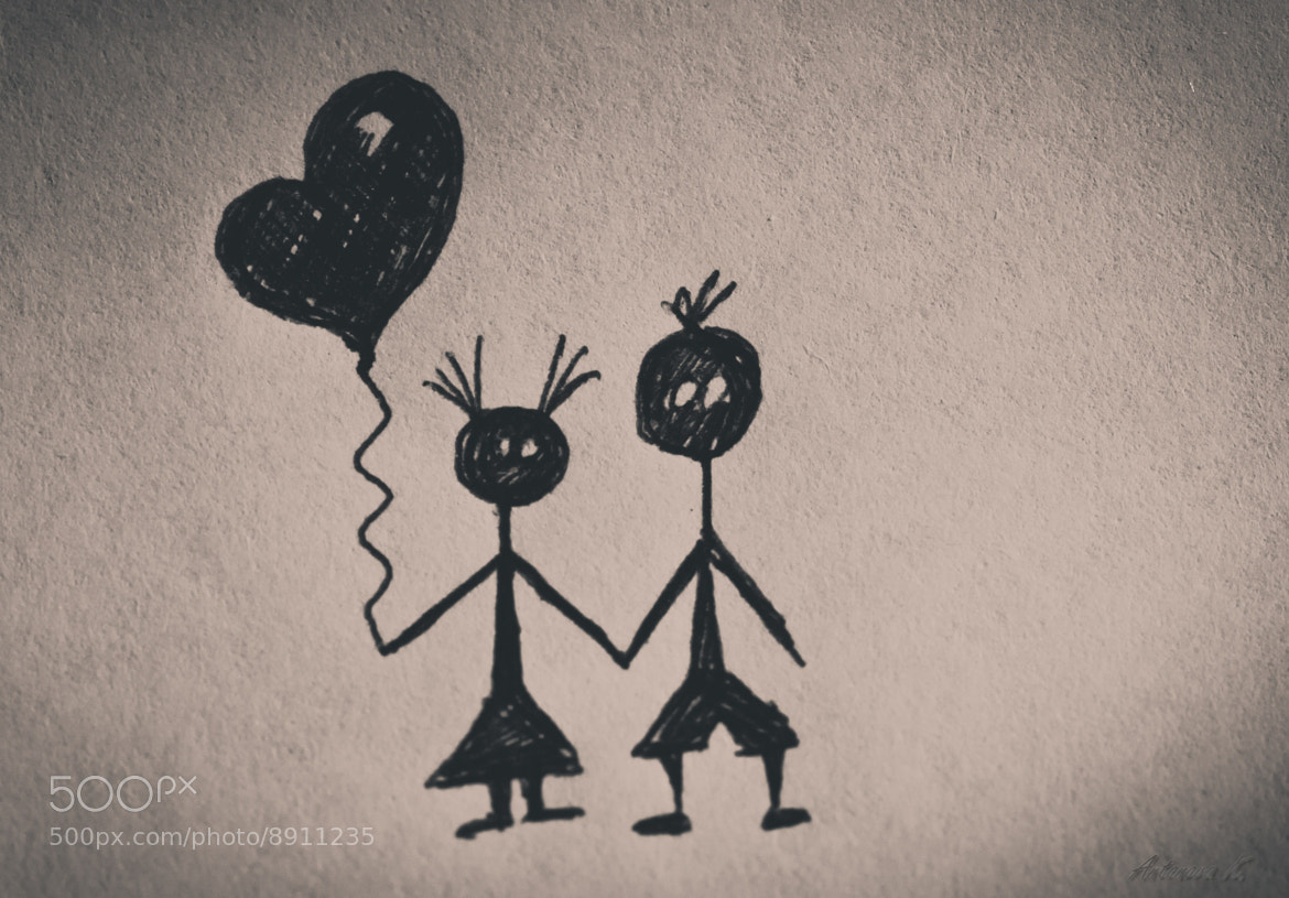 Photograph drawn love  ❤ by damnlynx  on 500px
