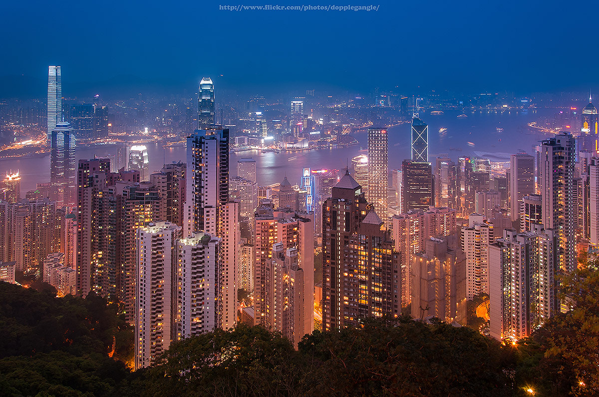 Photograph Hong kong cityscape view point from The Peak by Vorravut Thanareukchai on 500px
