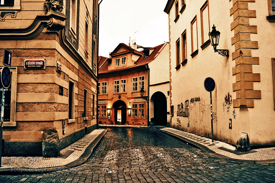 Photograph Prague Side Street by Konstantinos Kouratoras on 500px