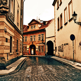 Prague Side Street by Konstantinos Kouratoras (kouratoras)) on 500px.com