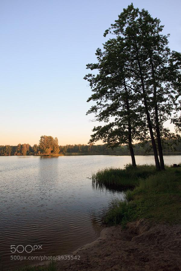 Photograph Sunset on Unecha's Lake by Denis Belyaev on 500px