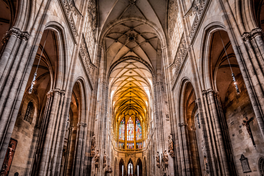 Photograph Interior of the Church at Prague Castle by Pablo Khaled on 500px