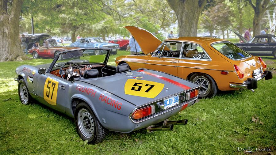 Spitfire Racer & 1974 MGB GT