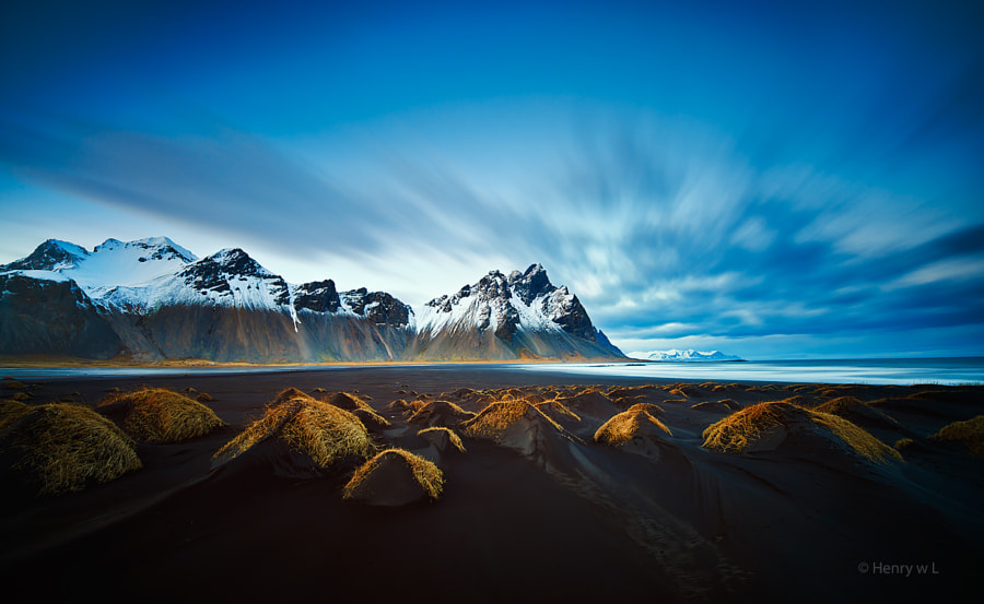 Photograph Vestrahorn Dusk by Henry Liu on 500px