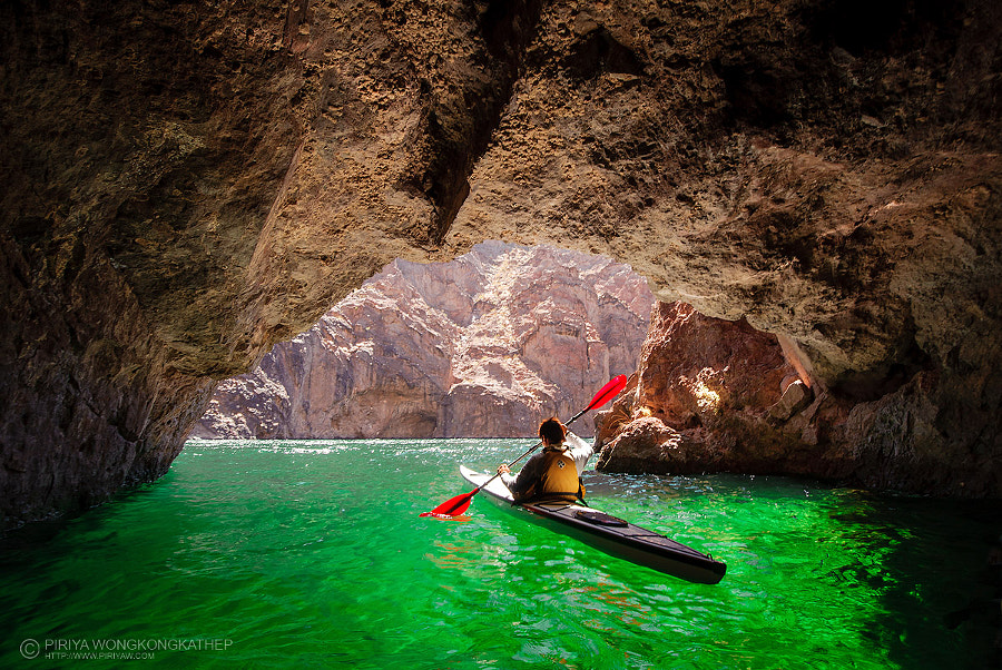 Kayak in the Emerald Cave by Pete Wongkongkathep on 500px.com