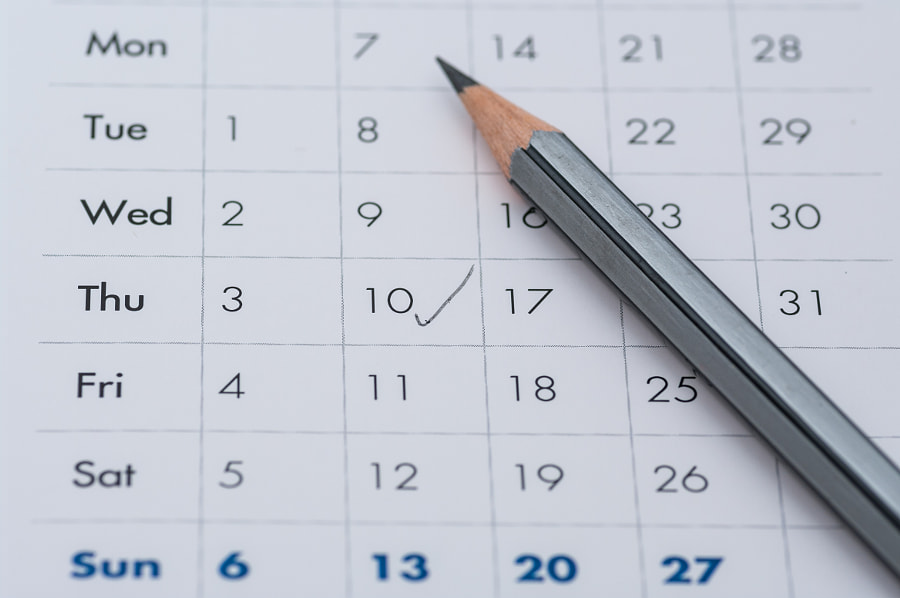 gray pencil on a open calendar business agenda by Mihai Ologeanu on 500px.com