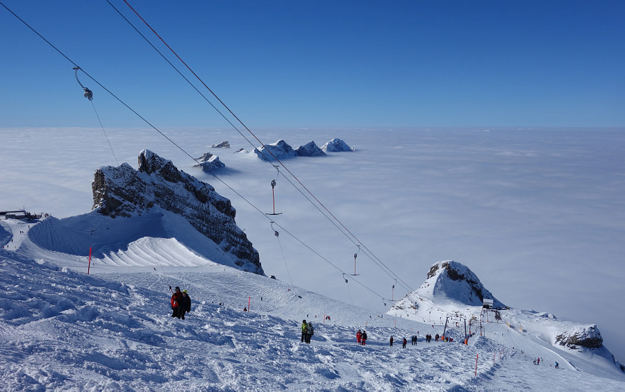 Titlis Skiing by Dirk Plate on 500px.com