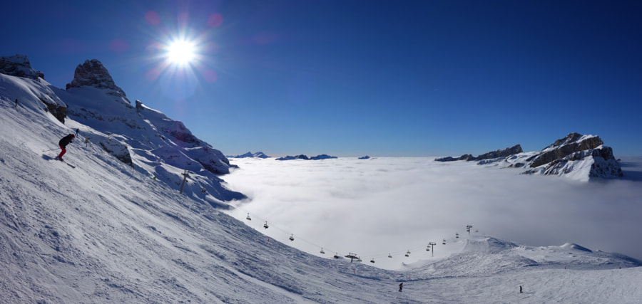 Skiing above fog by Dirk Plate on 500px.com