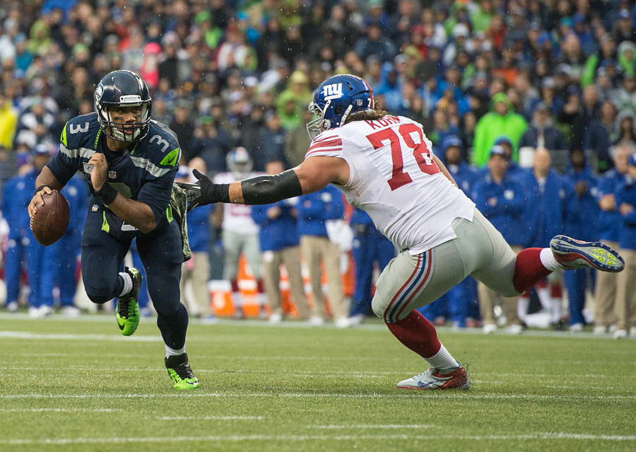Photograph Seahawks Russell Wilson scambles by Matt McDonald on 500px