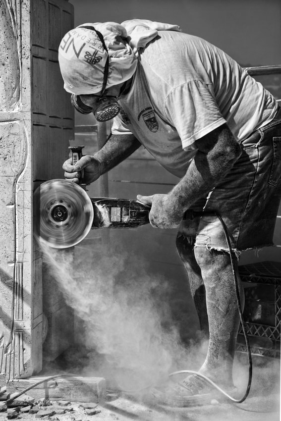 Photograph Sculptor At Work by mario pignotti on 500px