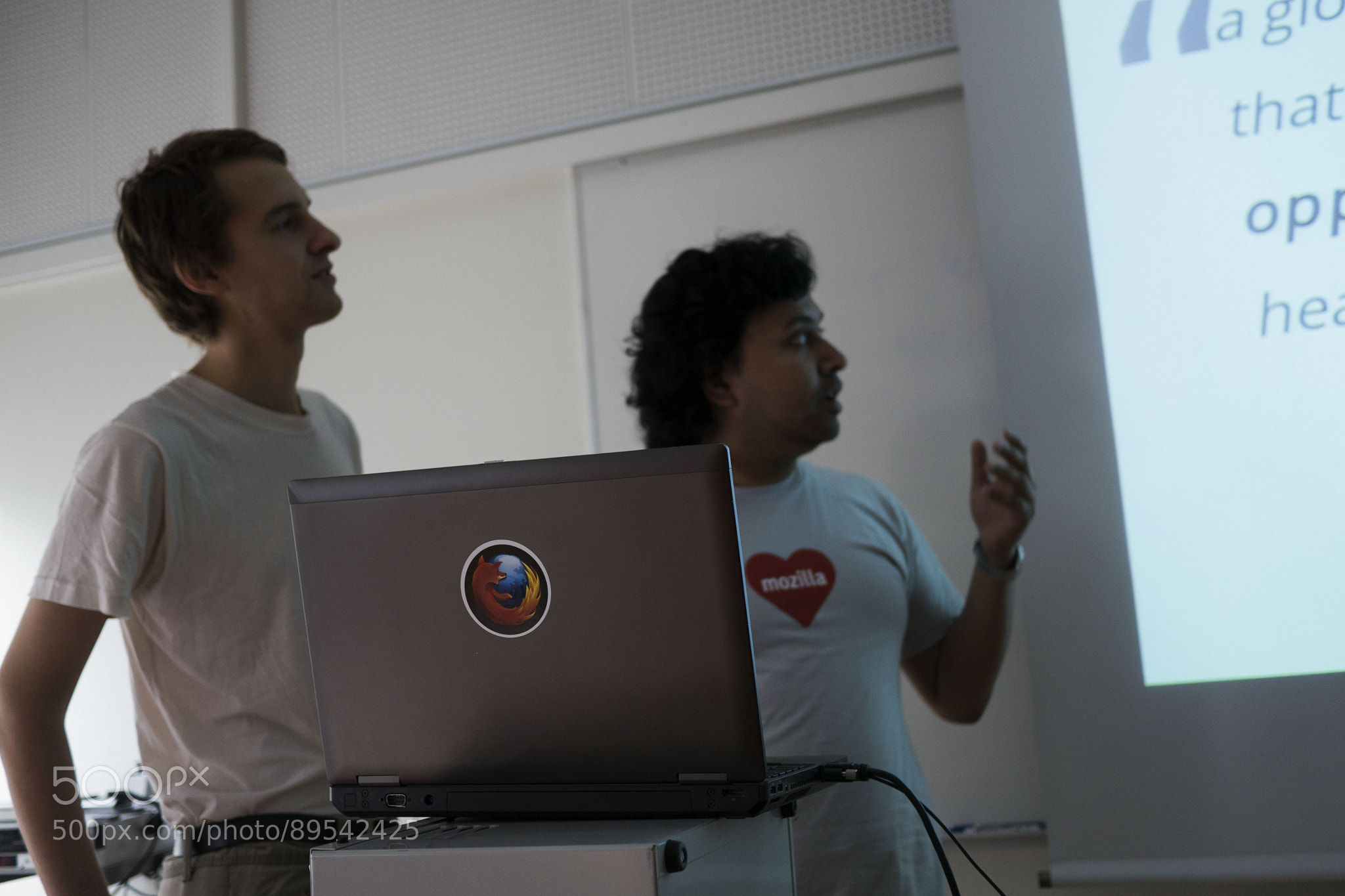 Oliver and Soumya talking about the Swedish Mozilla comunity at FSCONS 2014