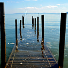 Постер, плакат: Vanishing pier at Rhos onSea North Wales