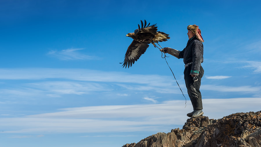 Eagle hunter Bazarbai by Stefan Cruysberghs on 500px.com