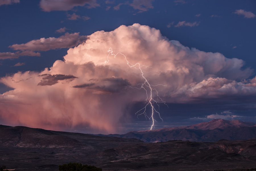 Blue Hour Lightning by Jeff Sullivan on 500px.com