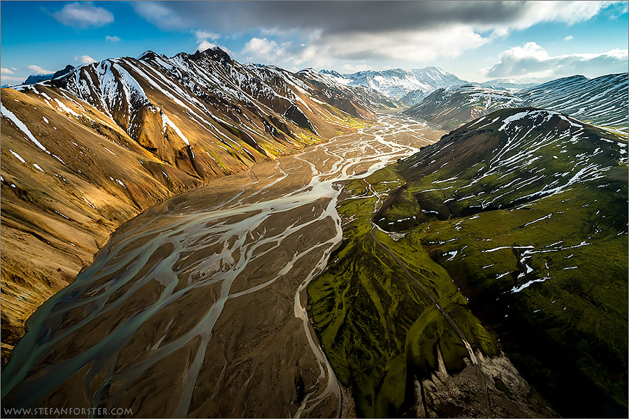 Photograph Droneshot over Iceland by Stefan Forster on 500px