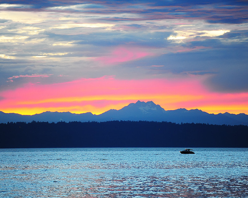 Photograph Puget Sound sunset by Doug Mahugh on 500px