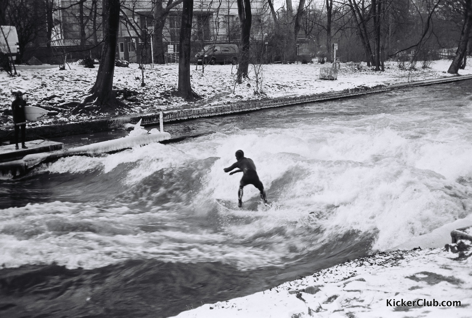 Photograph Munich River Surfing in Winter by Andrew Guan on 500px