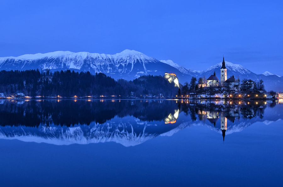 Winter Panorama Bled by Csilla Zelko on 500px.com