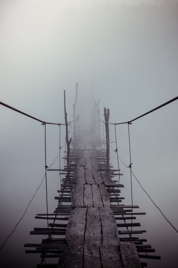 Foggy bridge by Evgen Andruschenko on 500px.com