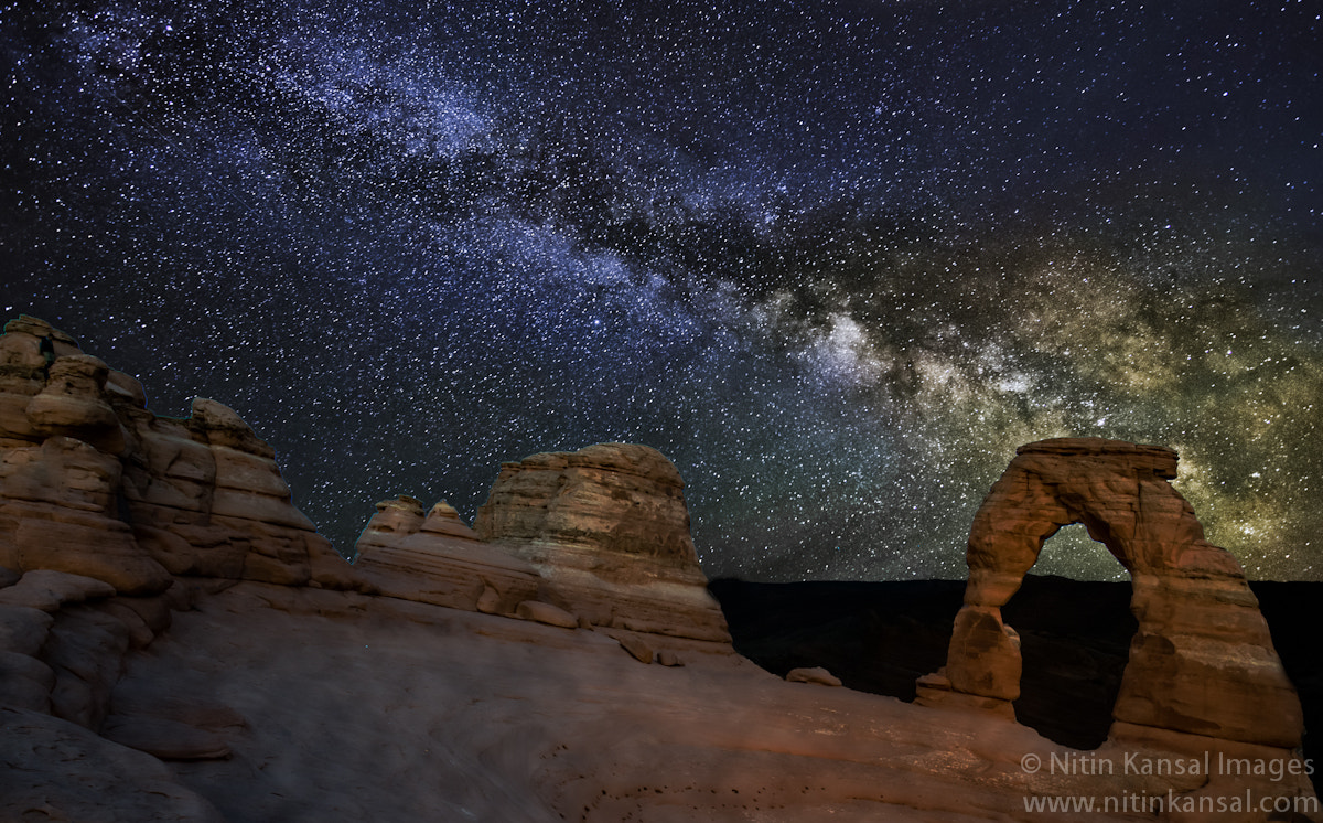 Photograph Milky way over Delicate arch by Nitin Kansal on 500px