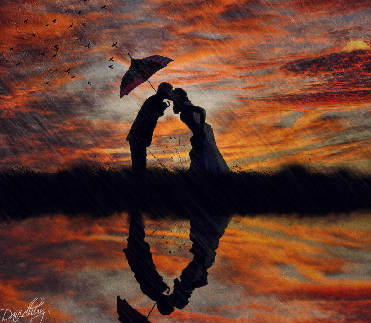 Photograph Kissing in the rain by David Huy on 500px
