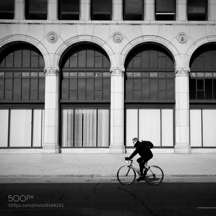 Photograph cyclist (New Center, Detroit) by Jon DeBoer on 500px
