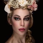 Постер, плакат: There Will Be Light Again Floral Head Dress Portrait