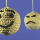 Постер, плакат: Knitted emoticons