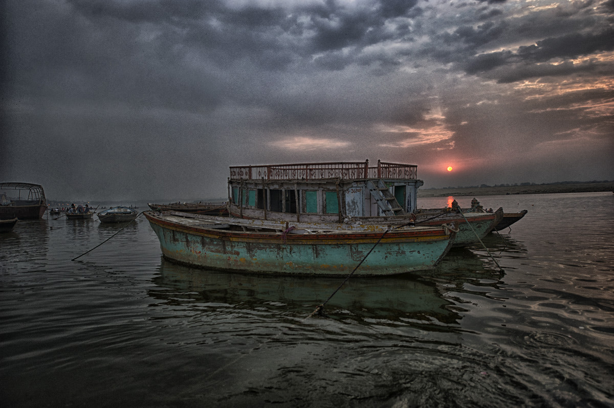 Photograph House Boat on The River Ganges by Blindman shooting on 500px