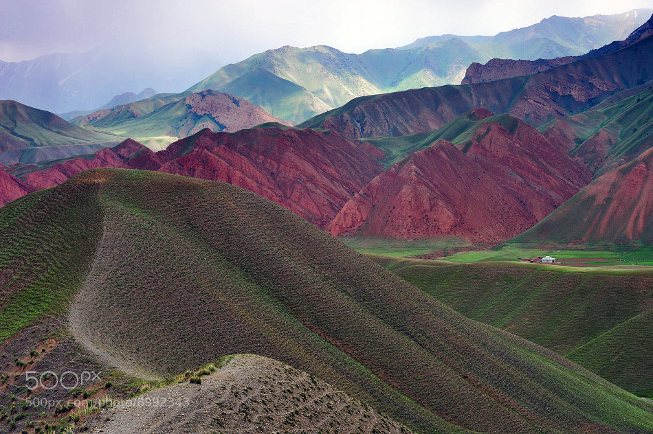 Photograph Colored Mountains of Kyrgyzstan by Dementievskiy Ivan on 500px