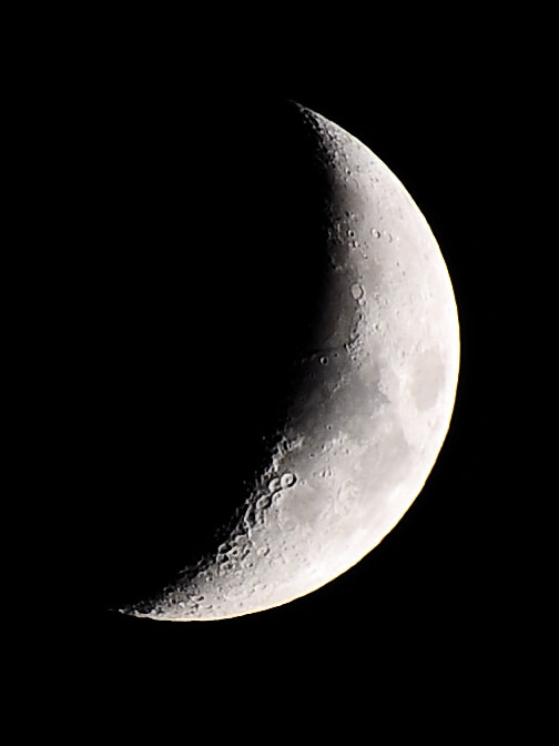 Photograph Quarter Moon by Shawn Stone on 500px