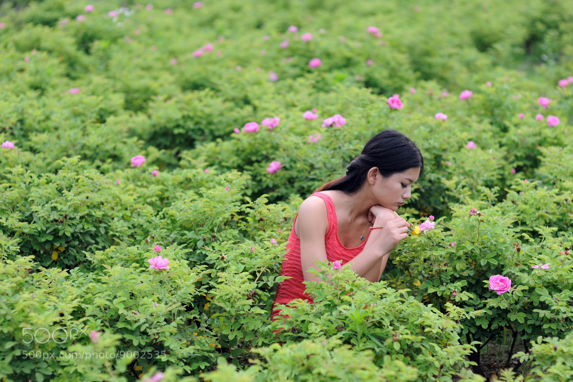 Photograph girl & flowers by Sean Wu on 500px