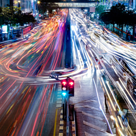 Bangkok Traffic by mark burban (Pixelwhip) on 500px.com
