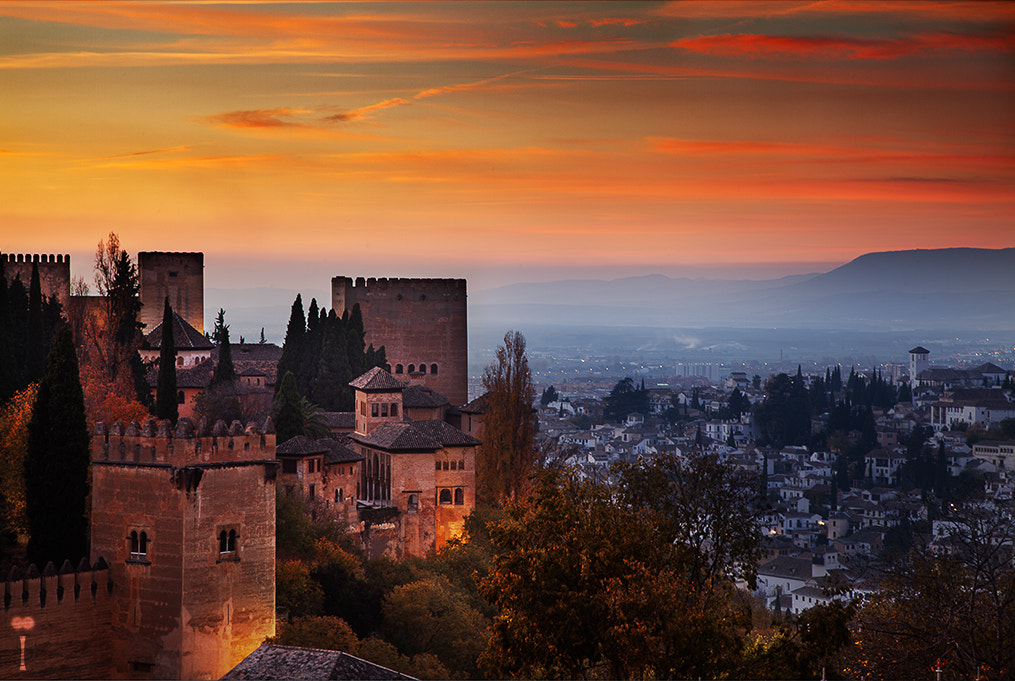 Photograph Alhambra at Sunset by Romain Matteï on 500px