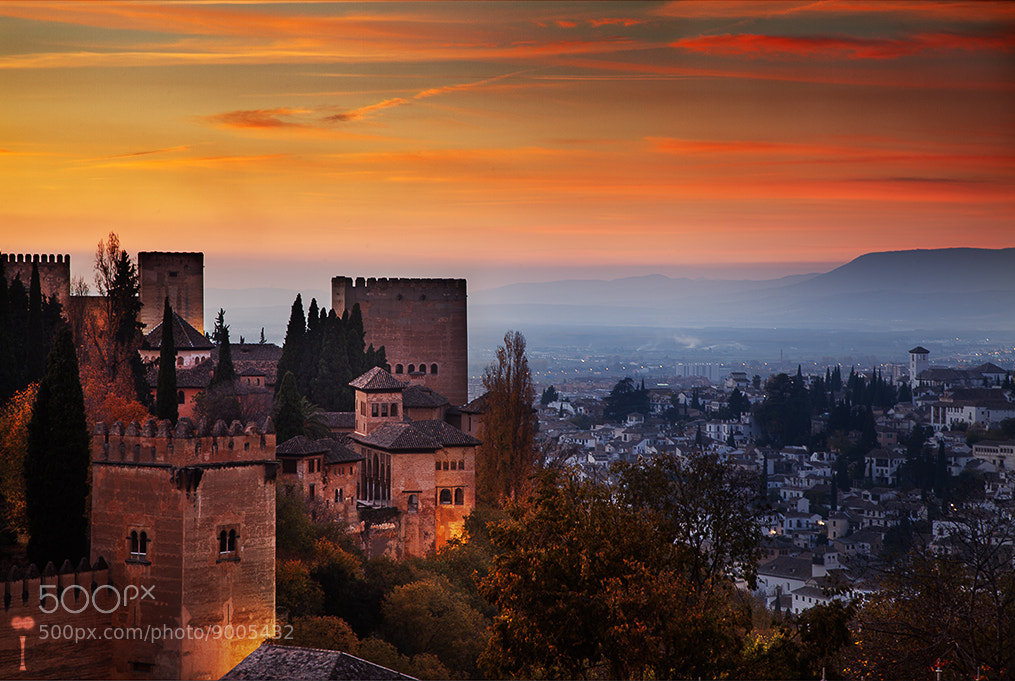 Photograph Alhambra at Sunset by Romain Matteï Photography on 500px