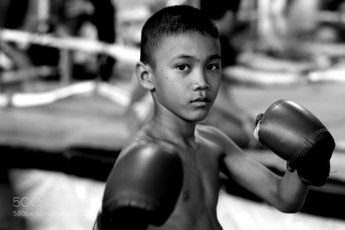 Photograph Little boy with boxing gloves  by Pucca Pook on 500px