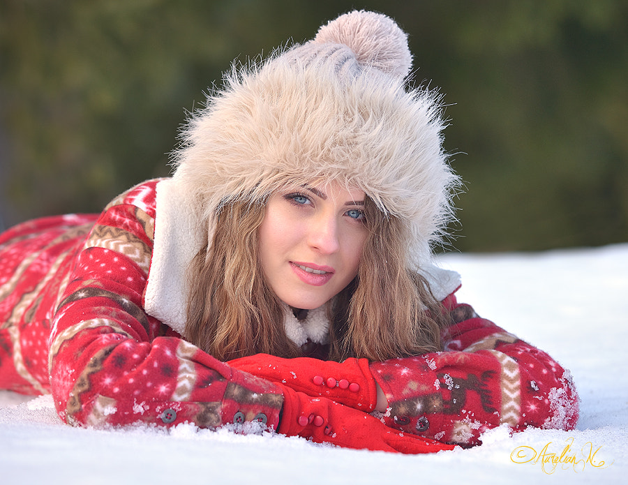 Laying in the snow