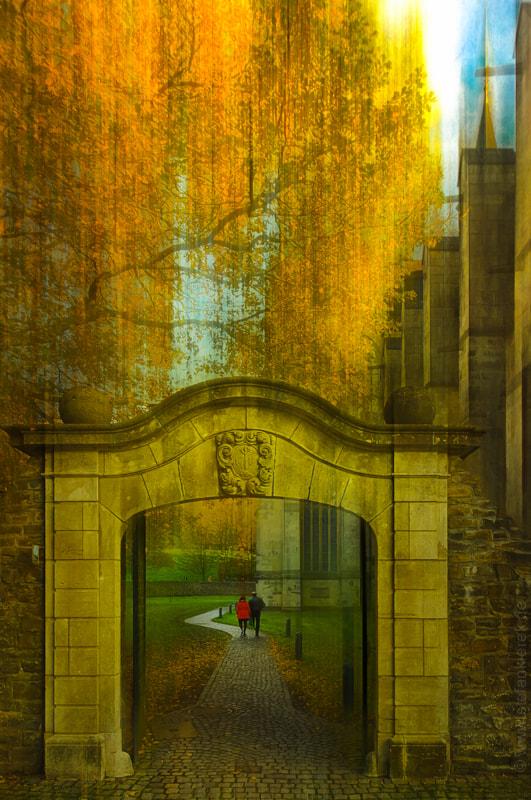 Walk under a gate