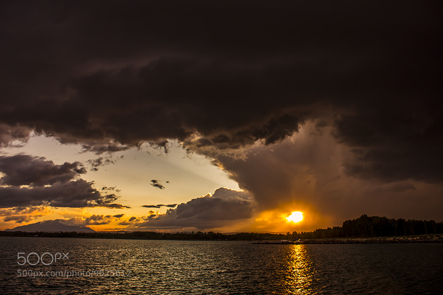Photograph sun lake and clouds by halil gündüz on 500px