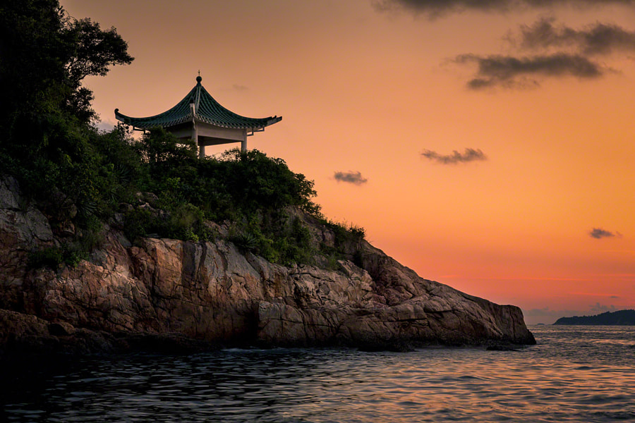 Photograph Sunset Pagoda, Lamma Island by Craig McCormick on 500px