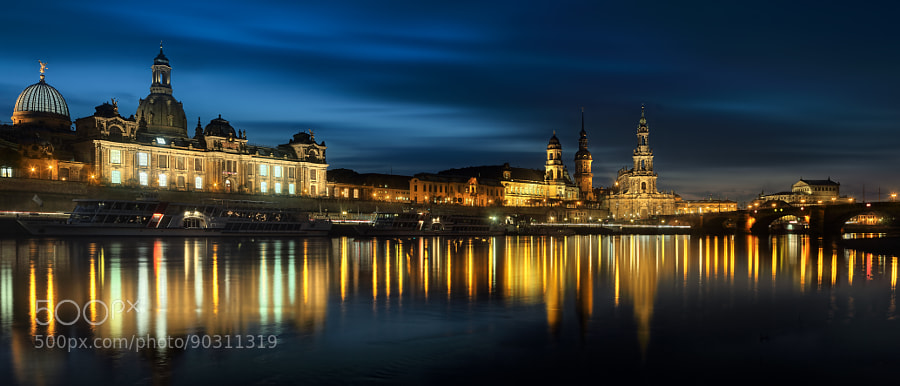 Dresden during blue hour