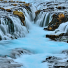 The blue water of Brúarfoss.  Join me on my exciting, affordable photo tours of Iceland in 2015. www.andreasjonesphotography.com/photography-tours.html