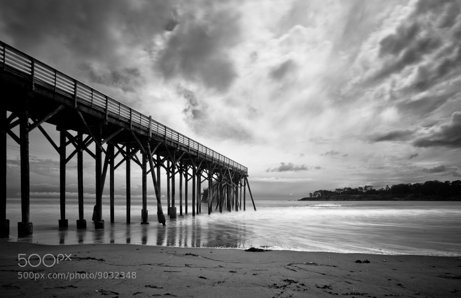 The Pier in San Simeon (b&w) by Joseph Fronteras (Fronteras) on 500px.com