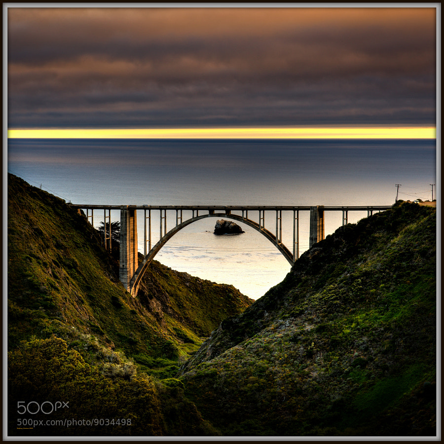 Bixby Bridge at Sunset (Big Sur Ca.)