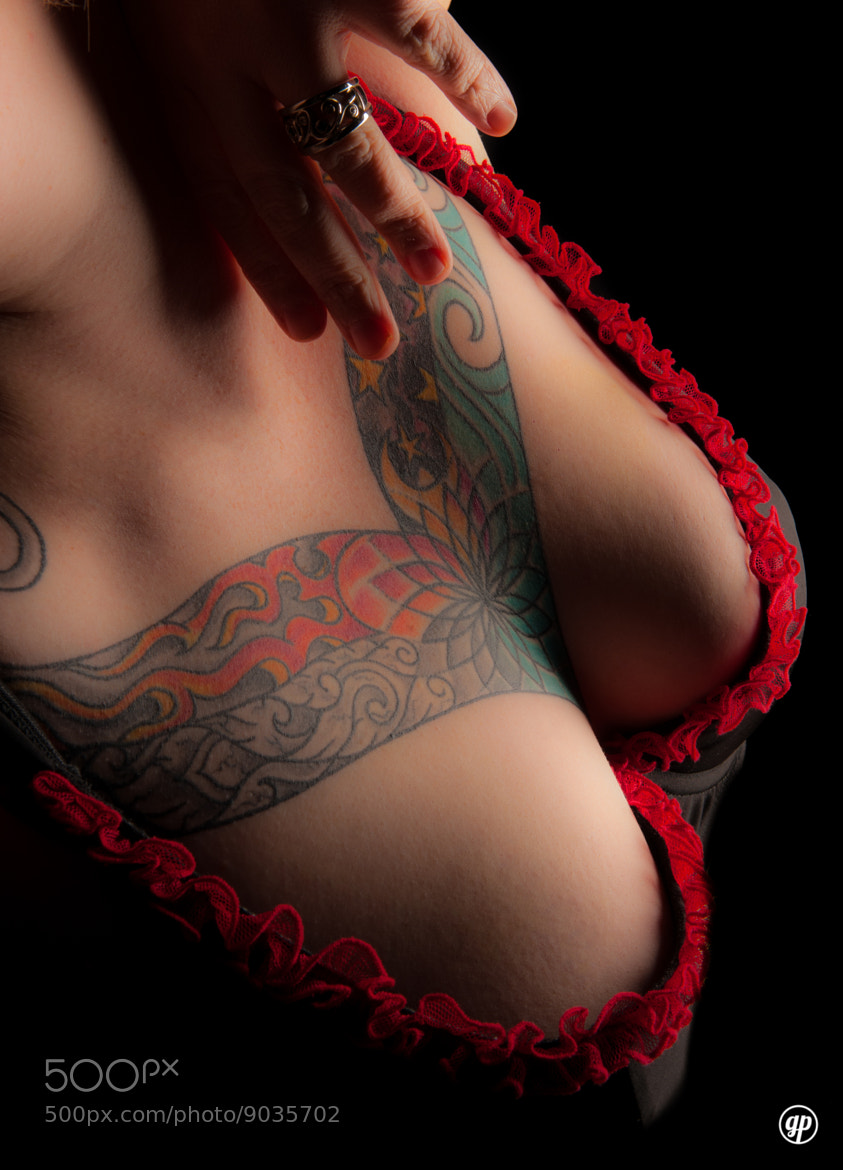 Photograph Tattooed Chest with Bra by Al Gauthier on 500px
