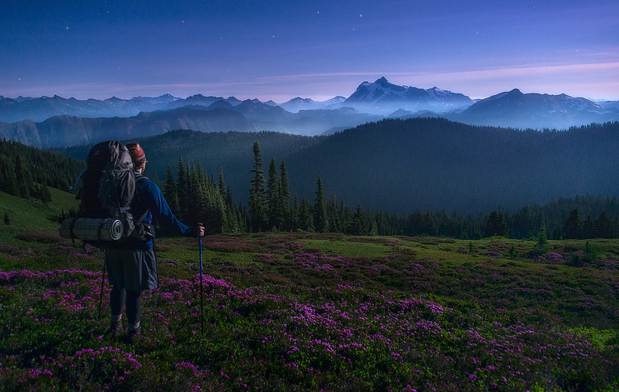 Backpacking Under the Super Moon - Mount Baker Wilderness, Washington by Dave Morrow on 500px.com